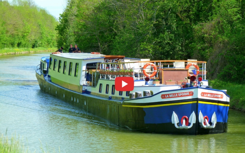 Tour the La Belle Epoque Hotel Barge