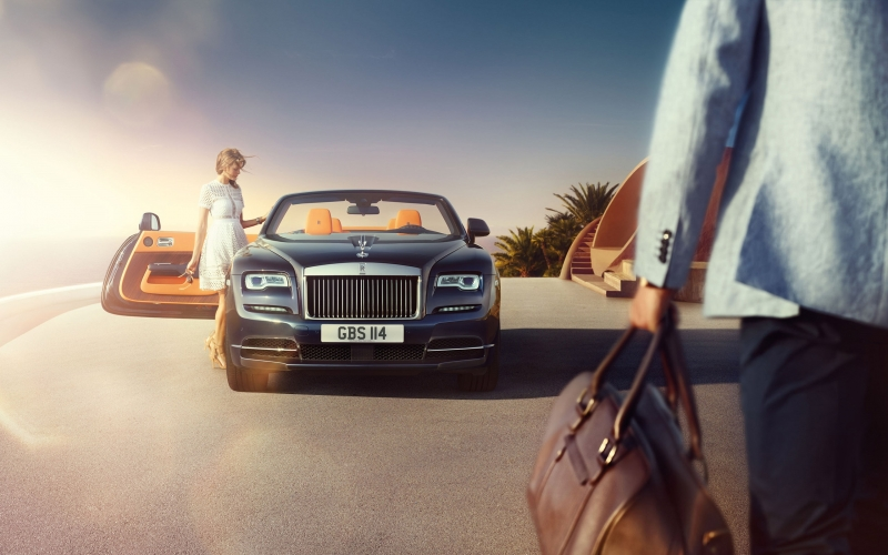 The Rolls-Royce Dawn handles and drives better than its competitors.
