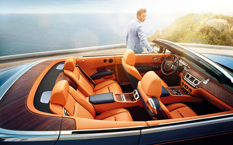 The interior of the Rolls-Royce Dawn is a home away from home.