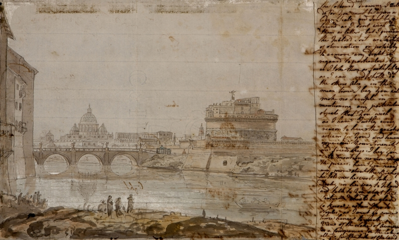 Sketches of Castel Saint Angelo and Saincredit