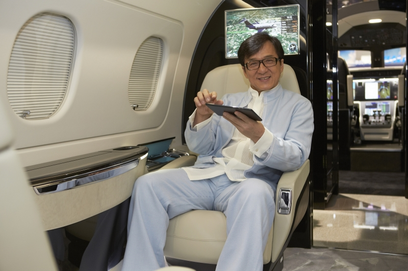 Jackie Chan, stuntman, and actor extraordinaire is the first Chinese client to take delivery from Embraer