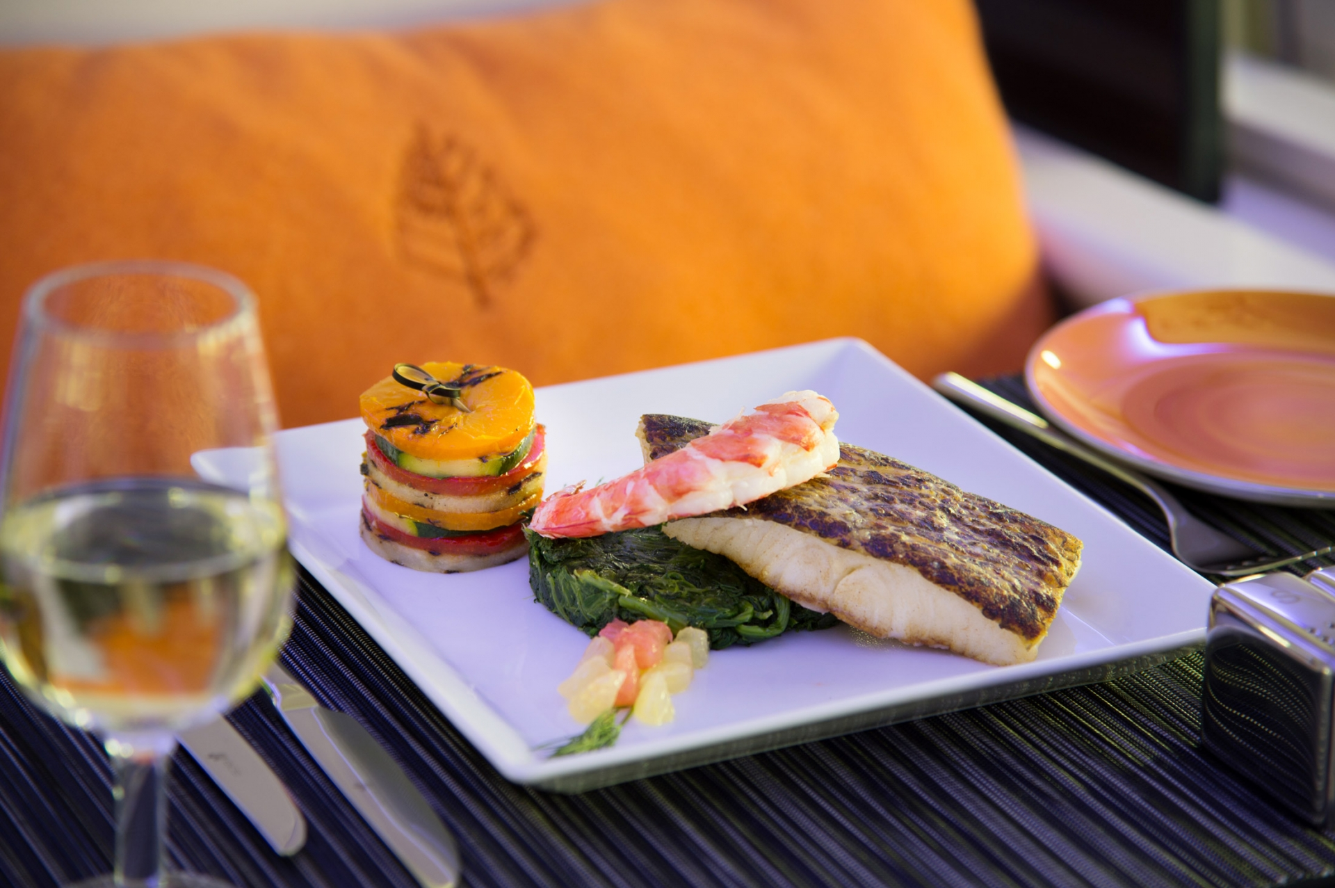 Meals on the flight are specially created by Four Seasons executive chefs and use only the freshest ingredients