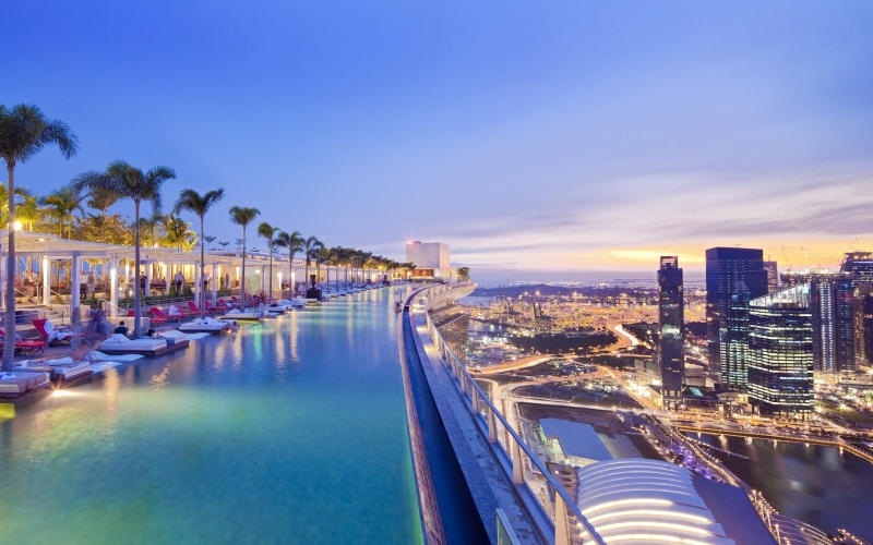 The Infinity pool, Marina Bay Sands, Singapore