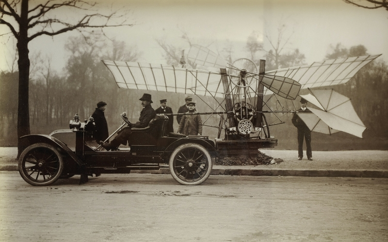 There was excitement in the air, as the great Mr. Dumont would be flying the latest model of his airplane