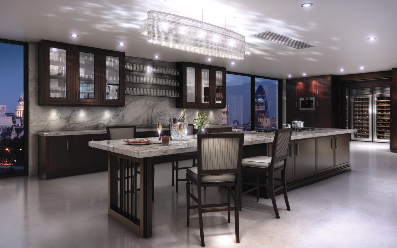 Clive Christian Metro Deco Contemporary Kitchen