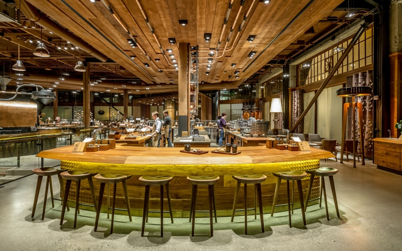Starbucks Roastery, Capitol Hill Neighborhood of Seattle