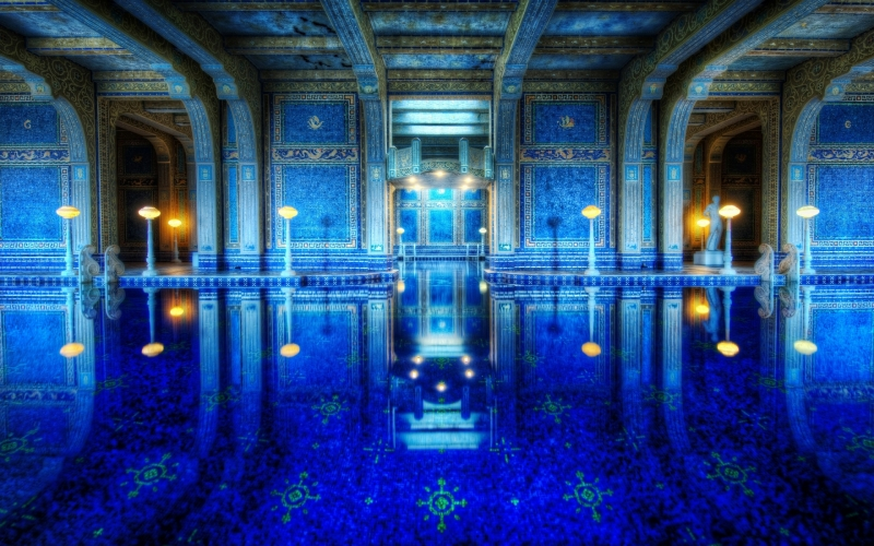 The Azure Blue Roman Pool at Hearst Castle