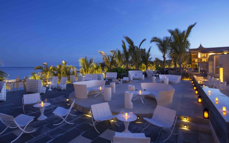 The Mulia Bali Lounge and Pool Area