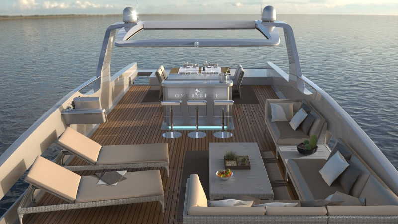 The Flybridge on an Overblue Superyacht