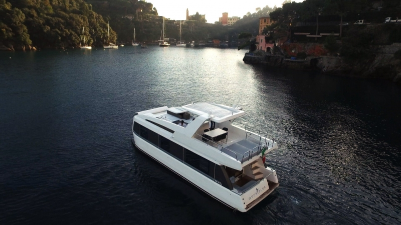 Overblue, The Amalgamation of Houseboat & Catamaran, into Dramatic Luxury