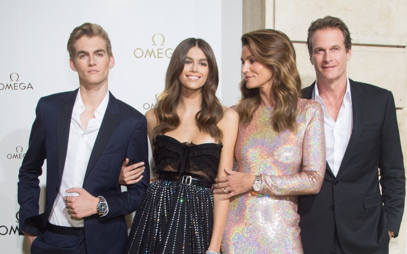 Omega Ambassador Cindy Crawford and Family