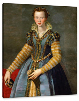 Portrait of Maria de' Medici, c.1555, Oil on Poplar