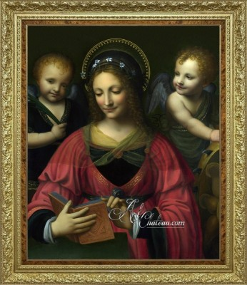 Saint Catherine with Two Angels, after Bernardino Luini