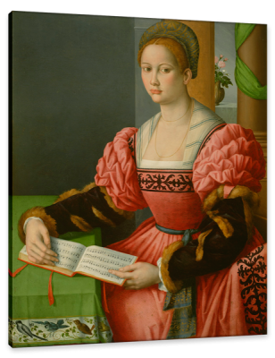 Portrait of a Woman with a Book of Music, c.1545, Oil on Canvas