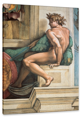 Ignudi, (The Naked) from the Sistine Chapel Ceiling, c.1510, Fresco