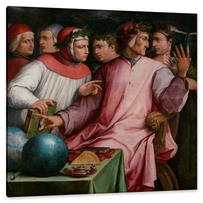 Six Tuscan Poets, Dante, Petrarch, Guido Cavalcanti, Boccaccio, Cino da Pistoia, c.1544, Oil on Canvas