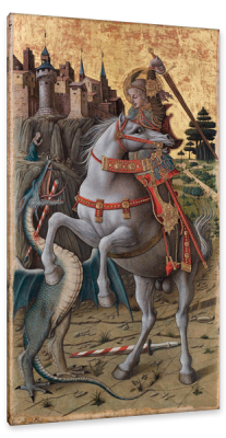 Saint George Slaying the Dragon, c.1470, Oil on Poplar