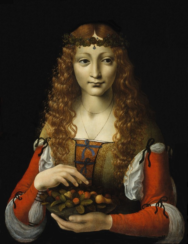 Caterina Sforza, Countess of Forlì, c.1485, Tempera on Poplar Wood