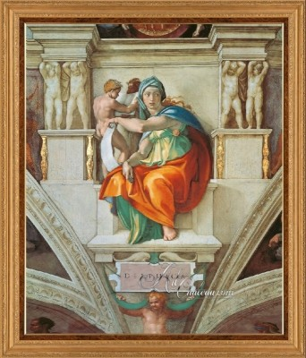 The Delphic Sibyl, after Painting by Michelangelo