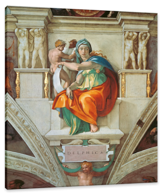 The Delphic Sibyl, from the Sistine Chapel Ceiling, c.1510, Fresco