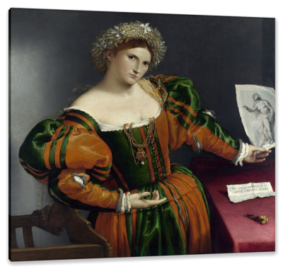 Venetian Woman in the Guise of Lucretia, c.1533, Oil on Panel
