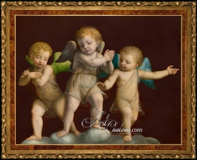 Three Putti, after artist Bernardino Luini