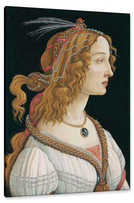 Portrait of Simonetta Vespucci as a Nymph, c.1480, Oil on Panel