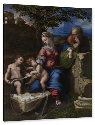 The Holy Family with John the Baptist, c.1515, Oil on Poplar