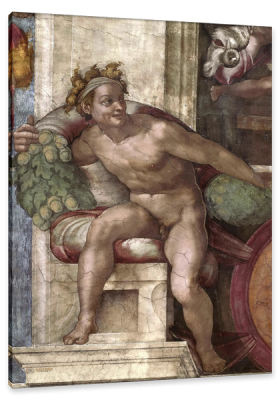 The Ignudi (The Naked) from the Sistine Chapel Ceiling, c.1510, Fresco
