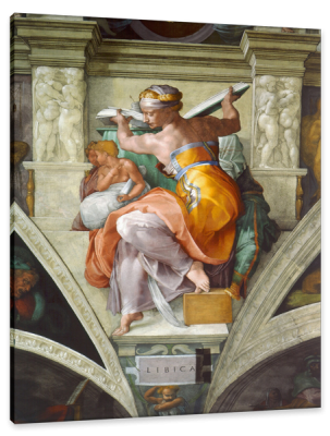 Libyan Sibyl, from the Sistine Chapel Ceiling, c.1510, Fresco