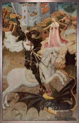 Preston Hollow, Dallas Interior Design, Saint George Slaying the Dragon