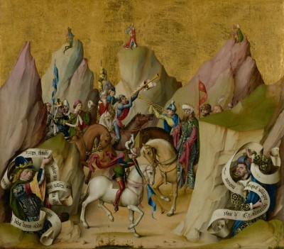 The Meeting of the Three Kings with David & Isaiah, c.1480, Oil and Gold Leaf on Panel