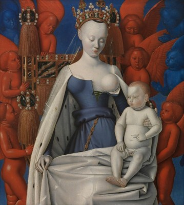 Virgin and Child Surrounded by Angels, c.1455, Oil on Oak Board