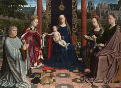 The Virgin and Child with Saints and Donor, c.1510, Oil on Oak