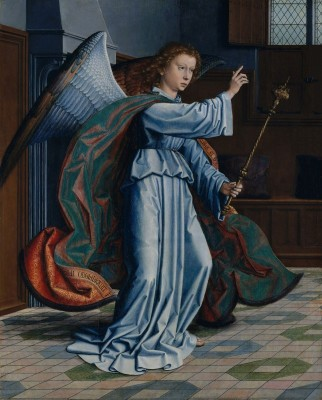 Angel of the Annunciation, c.1506, Oil on Oak Panel