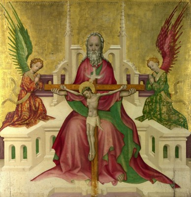 The Trinity, with Christ Crucified, c.1410, Tempera and Gold on Wood Panel