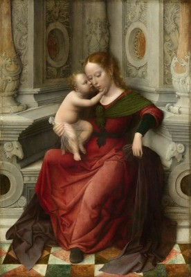 Virgin and Child sitting in a Stone Niche, c.1536, Oil on Oak Panel