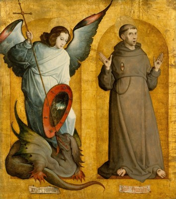 Saints Michael and Francis, c.1505, Oil and Gold Leaf on Panel
