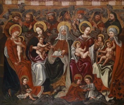 The Holy Kinship, c.1580, Oil on Panel