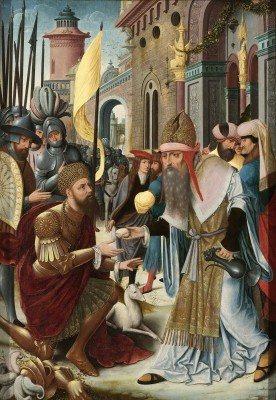 Meeting of Abraham and Melchizedek, c.1520, Oil on Panel