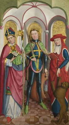 Saints Gregory, Maurice and Augustine, c.1485, Oil on Panel