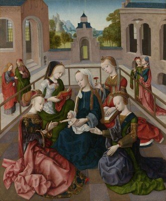 The Virgin and Child with Four Holy Virgins, c.1500, Oil on Panel
