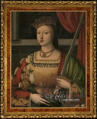 Catherine of Austria, Queen of Portugal, as Saint Catherine