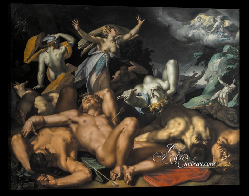 Apollo and Diana Punish Niobe, after Abraham Bloemaert