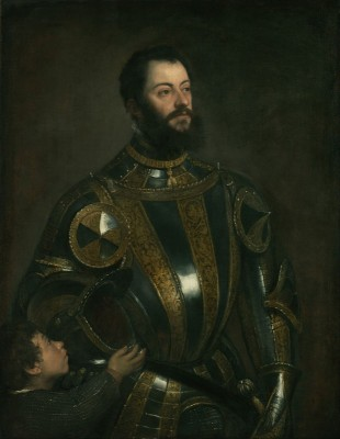 Portrait of Alfonso d'Avalos, Marquis of Vasto, c.1560, Oil on Panel