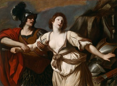 Rinaldo restraining Armida from wounding herself with an arrow, c.1620, Oil on Canvas