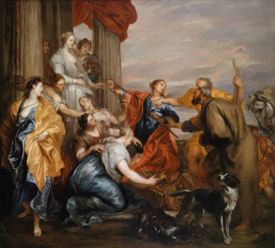 Odysseus discovering Achilles amidst the daughters of Lycomedes, c.1637, Oil on Canvas