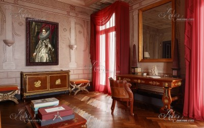 Classical Interior Design painting, after Peter Paul Rubens