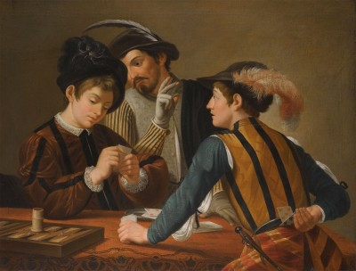 The Cardsharps, c.1595, Oil on Canvas