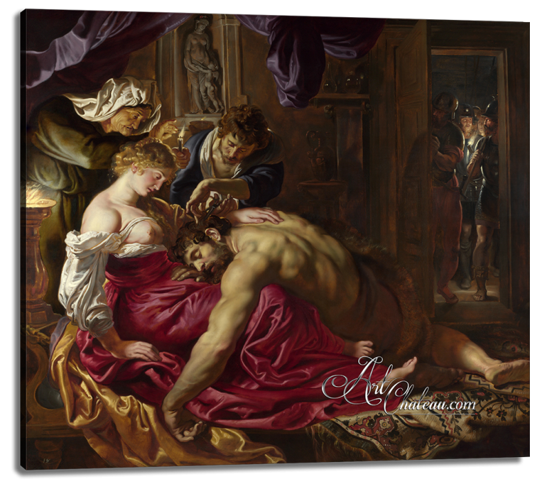 Samson and Delilah, after Peter Paul Rubens